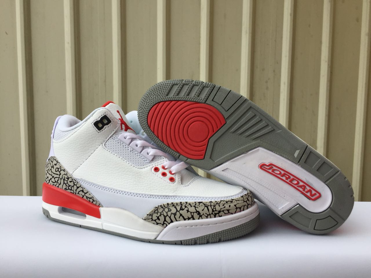 New Air Jordan 3 Retro Cement White Red